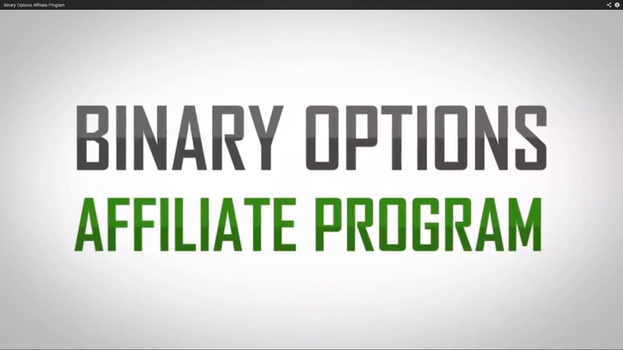 Binary options affiliate program