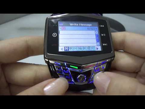 Quad Band Bluetooth Watch Mobile Cell Phone with Camera