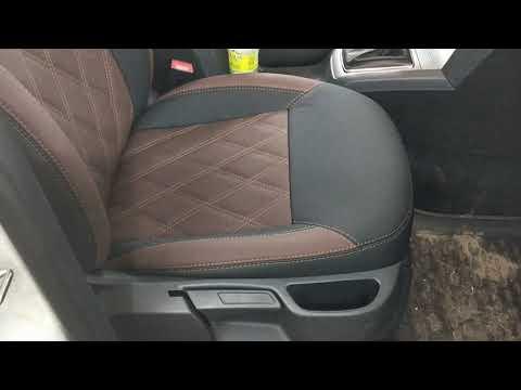 """Модельные авточехлы на Skoda Octavia A5 из итальянской экокожи  """"Aurora"""" от компании Brothers Tuning"""