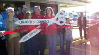 Ribbon-cutting at Uncle Henry