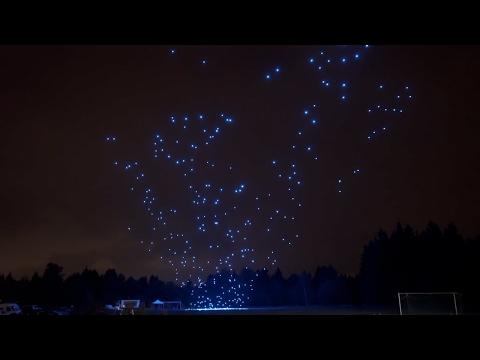 Intel's 500 Drones - Super Bowl LI - LED Light Show Amazing Technology