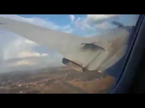 Convair CV-340 crash near Pretoria, South Africa taken from inside the cabin