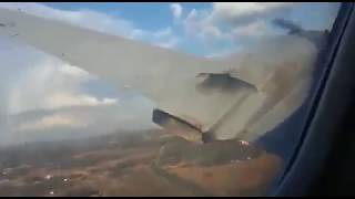 Convair CV-340 crash near Pretoria, South Africa taken from inside the cabin