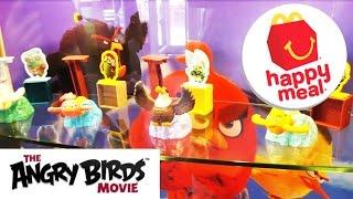 Новый Хеппи мил Энгри Бердс игрушки Май 2016 NEW Happy Meal Angry birds May 2016