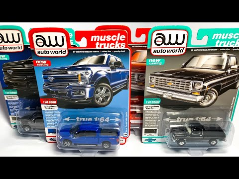 Lamley Preview: Auto World 2019 Premium Release 4 & Brand New Ford & Chevy Pickups