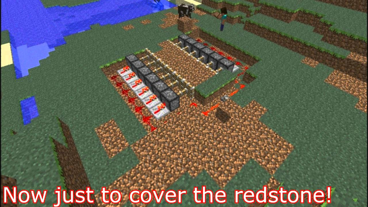 Minecraft how to make a secret hideout house with for Easiest way to build a house