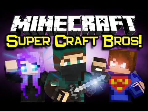 Minecraft SUPER CRAFT BROS! Game 1 (Server PVP Mini-Game)