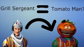 The DARK SECRET about GRILL SERGEANT AND TOMATO MAN - Fortnite Battle Royale