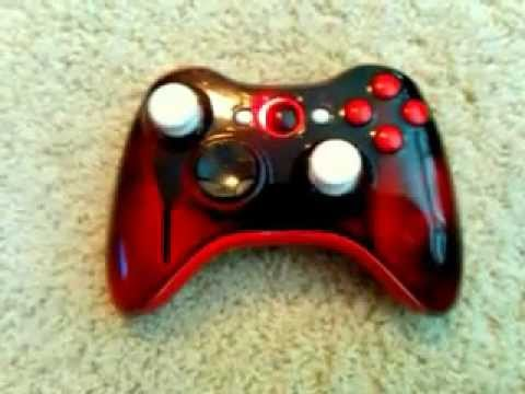 Xbox 360 Custom Controller black and red Paint Job - YouTube