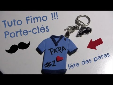 tuto fimo porte cl s f te des p res youtube. Black Bedroom Furniture Sets. Home Design Ideas