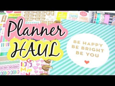 Planner Supply HAUL - Stickers & Washi Tape - The Happy Planner 2016 | SoCraftastic