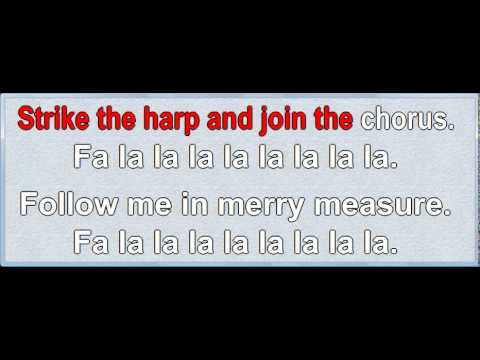 Deck the Hall (traditional) Karaoke, melody and lyrics