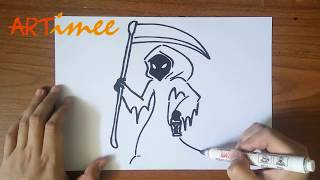 the grim reaper drawing lesson