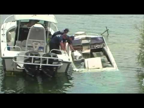 Lake Havasu City, Ariz. - Illegally Moored Boat Sinks at Site 6