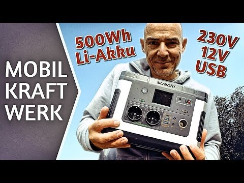 Mobile Stromversorgung Suaoki Power Station G500 Test & Review