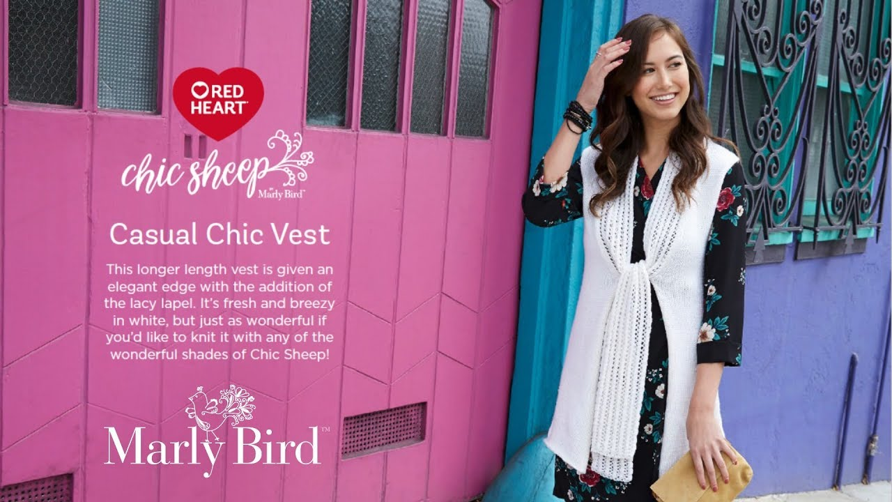 How to Knit Casual Chic Vest with Chic Sheep by Marly Bird™ Yarn
