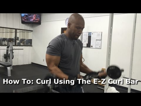 How To: Curl Using The E-Z Curl Bar ( For Beginners ) @TJ Fitness 1