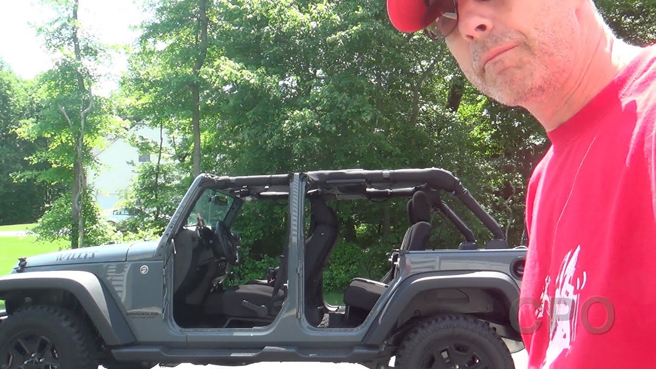 & Jeep Wrangler Doors Off Mirror - Motorcycle on Hinge - YouTube pezcame.com