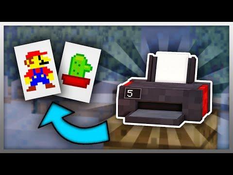 ✔️ Working PRINTER In Minecraft! (Create Custom Paintings)