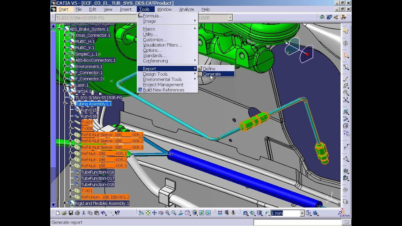 Catia v5 tubing schematic to design (tue) youtube.