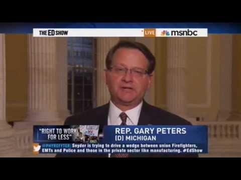 Congressman Gary Peters on the Ed Show - Michigan GOP