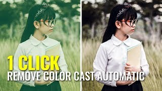 EASY! How to Remove Color Cast in Photoshop