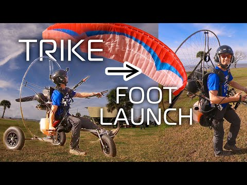 Paramotor Trike converts to Foot Launch In Seconds, with the Atom 80