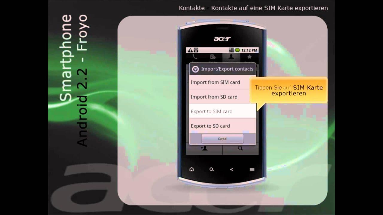 Fotos Auf Sd Karte Verschieben S4.Kontakte Kontakte Auf Eine Sim Karte Exportieren