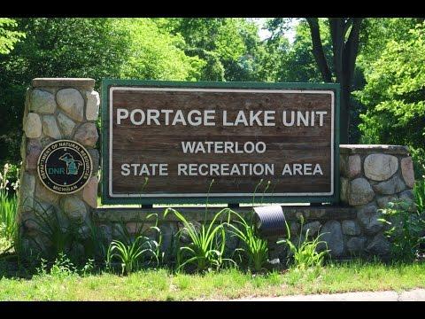 Camping at Portage Lake - Waterloo State Park, Mi