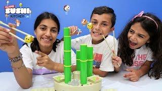 Flying Sushi Kitchen Game - Family Kids Game Night