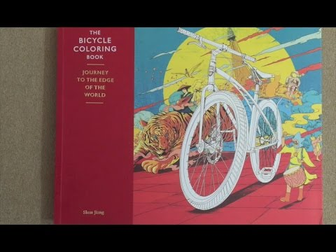 the bicycle coloring book journey to the edge of the world flip through youtube - Bicycle Coloring Book
