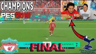 !!RETO PES 2019!!  Champions League !!TOTTENHAM vs LIVERPOOL  !! FINAL