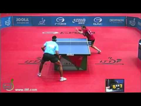 Achanta Sharath Kamal vs Paul Drinkhall Deciding Last Game brought to you by www.TableTennisBug.com