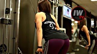 Важно в фитнес - бикини! Тренировка спины. Анастасия Волкова