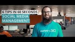 Social Media Management - 6 Tips in :60 Seconds