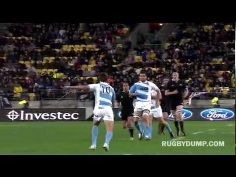 Juan Martin Hernandez's banana-swerve kick vs the All Blacks