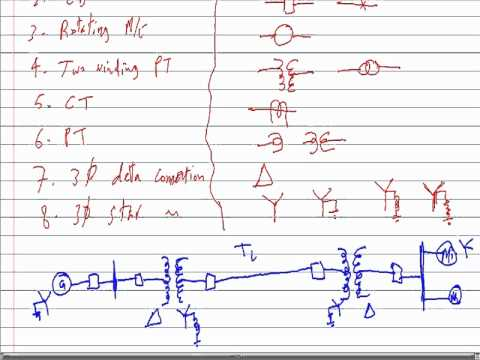 Power System Anaysis Lecture 1 1 One Line Diagram YouTube