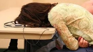 Funny people falling asleep in public  Funny fail compilation