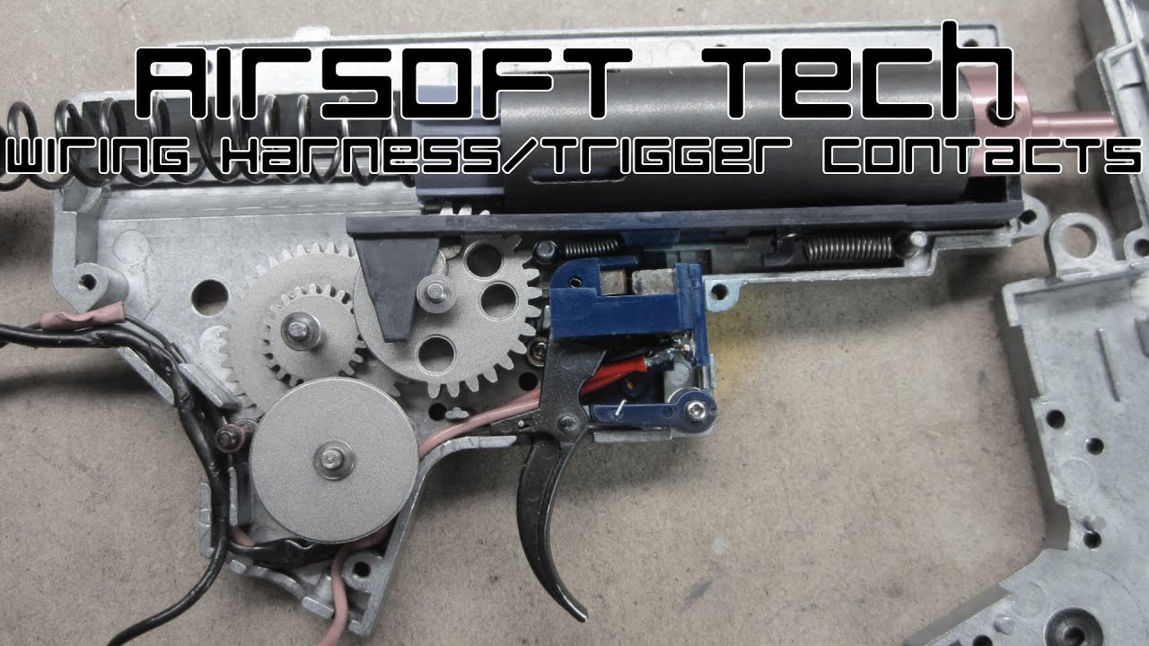 medium resolution of airsoft tech wiring harness and trigger contacts v2 aeg