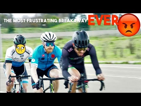The most FRUSTRATING breakaway EVER! (A VERY SALTY Cycling Race Breakdown)