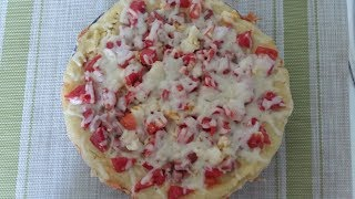 Пицца-пирог за 15 минут.Простой рецепт приготовления пицца-пирог в домашних условиях.