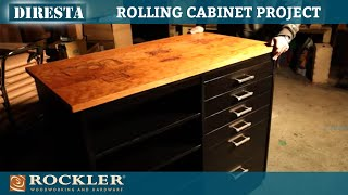 Jimmy DiResta Makes a Rolling Cabinet - Black Stained Cherry and Laser Graphics