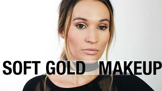 Gold Kendall Jenner Inspired Makeup Tutorial | ttsandra thumbnail