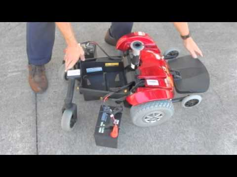 Disassembling of a Jazzy Select Power Chair With Attendent Control