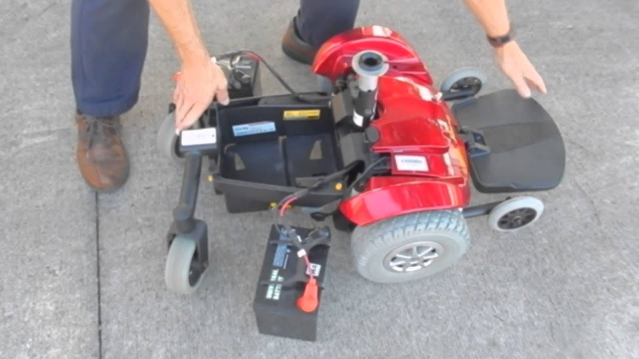 Disembling of a Jazzy Select Power Chair With Attendent Control on