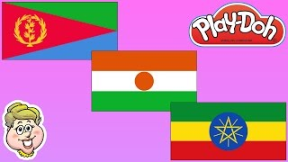 Play-Doh Flags!  Eritrea, Niger, and Ethiopia! EWMJ #301
