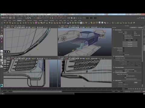 Audi R8 car Modeling Tutorial Maya 2014