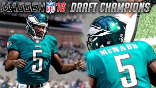 HOLY SH*T DONOVAN MCNABB & MAURICE JONES DREW ARE LEGENDARY- MADDEN 16 DRAFT CHAMPIONS GAMEPLAY