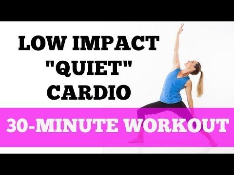 Fat Burning Cardio Low Impact Quiet Barefoot - Full 30-Minute Workout (Cardio Mat Fusion 2)