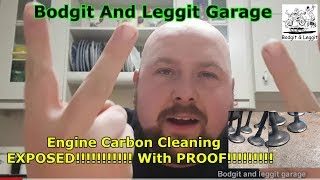 Engine Carbon Cleaning EXPOSED!!!!!!!!!!! With PROOF!!!!!!!!! Bodgit And Leggit Garage